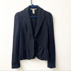 Diane Von Furstenberg Black Wool Lena Jacket